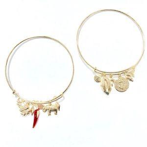 Jewelry - Goldfilled Alex &Annie CHARMS BANGLE BRACELET CUFF